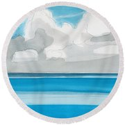 Bacalar, Mexico Round Beach Towel by Dick Sauer