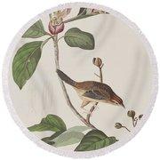 Bachmans Sparrow Round Beach Towel by John James Audubon