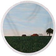 Back 40 Round Beach Towel