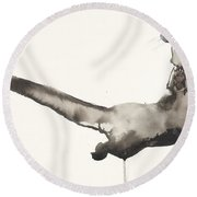 Back Awash   Otter Round Beach Towel