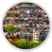 Back Bay Round Beach Towel by Rick Berk