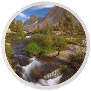 Back Country Creek Round Beach Towel