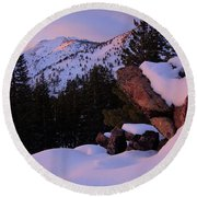 Round Beach Towel featuring the photograph Back Country Glow by Sean Sarsfield