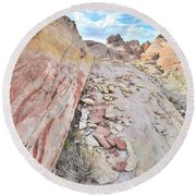 Back Country Valley Of Fire Round Beach Towel