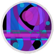 Back Room Blues Two Round Beach Towel