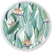 Back To Paradise Island Round Beach Towel