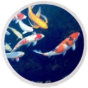 Back To School Round Beach Towel by Russell Keating