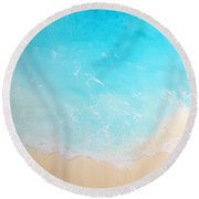 Back To The Beach Round Beach Towel