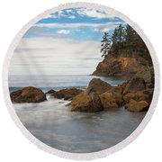 Back To The Beach Round Beach Towel by Mark Alder