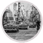 Back To The Past Round Beach Towel