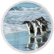 Back To The Sea. Round Beach Towel