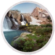 Backcountry Views Round Beach Towel