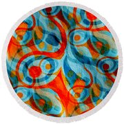 Background Choice Coffee Time Abstract Round Beach Towel