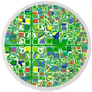Background Choice Squares Round Beach Towel