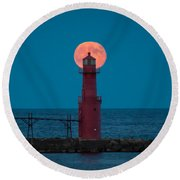 Backlighting II Round Beach Towel