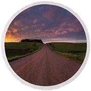 Round Beach Towel featuring the photograph Backroad To Heaven  by Aaron J Groen