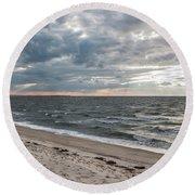 Backward Glance - Round Beach Towel