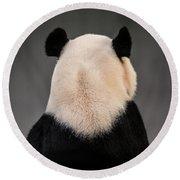 Backward Panda Round Beach Towel
