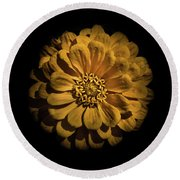 Backyard Flowers 58 Color Version Round Beach Towel
