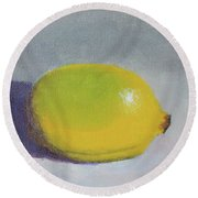 Backyard Lemon - Art By Bill Tomsa Round Beach Towel