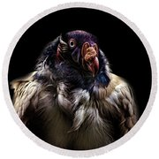 Bad Birdy Round Beach Towel by Martin Newman