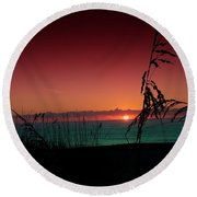 Bad East Coast Sunrise  Round Beach Towel