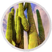 Bad Hombre Round Beach Towel by Paul Wear