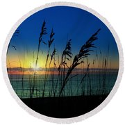 Bad Sea Oats  Round Beach Towel
