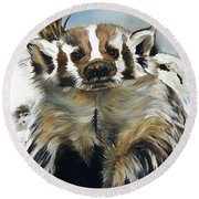 Badger - Guardian Of The South Round Beach Towel