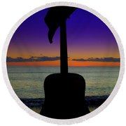 Badguitar  Round Beach Towel