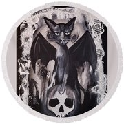 Badkitty Round Beach Towel