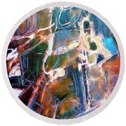 Round Beach Towel featuring the painting Badlands 1 by Dominic Piperata
