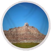 Badlands Canyon Round Beach Towel
