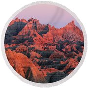 Badlands Dreaming Round Beach Towel