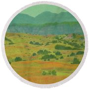 Badlands Grandeur Round Beach Towel