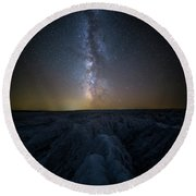 Round Beach Towel featuring the photograph Badlands II by Aaron J Groen