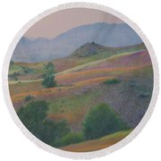 Badlands In July Round Beach Towel