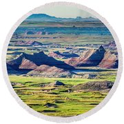 Badlands National Park Round Beach Towel