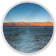 Badwater  Round Beach Towel