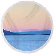 Round Beach Towel featuring the photograph Badwater - Death Valley by Peter Tellone