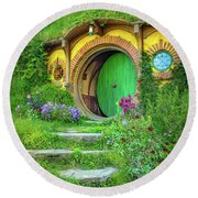Bag End Round Beach Towel