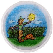 Baggs And Boo Round Beach Towel
