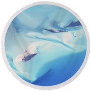 Round Beach Towel featuring the photograph Bahama Banks Aerial Seascape by Roupen  Baker