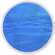 Bahama Blue Round Beach Towel