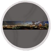 Round Beach Towel featuring the photograph Bahama Night by Jerry Battle