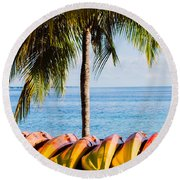 Round Beach Towel featuring the photograph Bahama Vibes by Parker Cunningham
