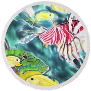 Bahamaian Delicacies Round Beach Towel