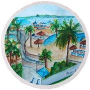 Bahamas Balcony Round Beach Towel
