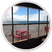 Bahia Bustamante Window Round Beach Towel
