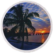 Bahia Honda State Park, Florida Keys Round Beach Towel